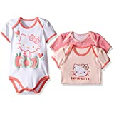 Hello Kitty Baby Core Blushing Pink Bodysuits, Blushing Bride, 12 Months (Color: Blushing Bride, Tamaño: 12 Months)