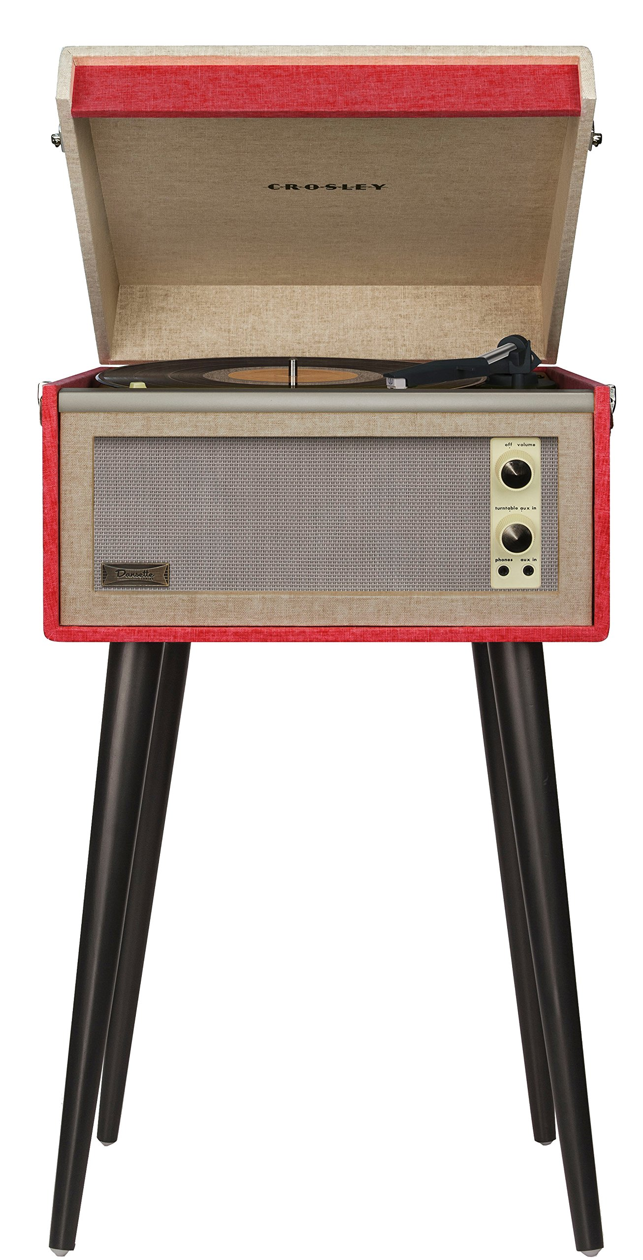 Crosley CR6233A-RE Dansette Bermuda Portable Turntable