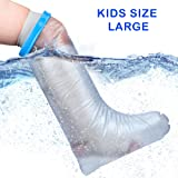 Waterproof Cast Cover For Shower & Bath - Kids Legs. Reusable, 100% Sealed Water Protector Keeps Casts & Bandages Dry. Covers Broken Leg, Foot, Ankle, Wounds, Burns. Full Watertight Protection. (Tamaño: Kids Size - Full Leg (Long))