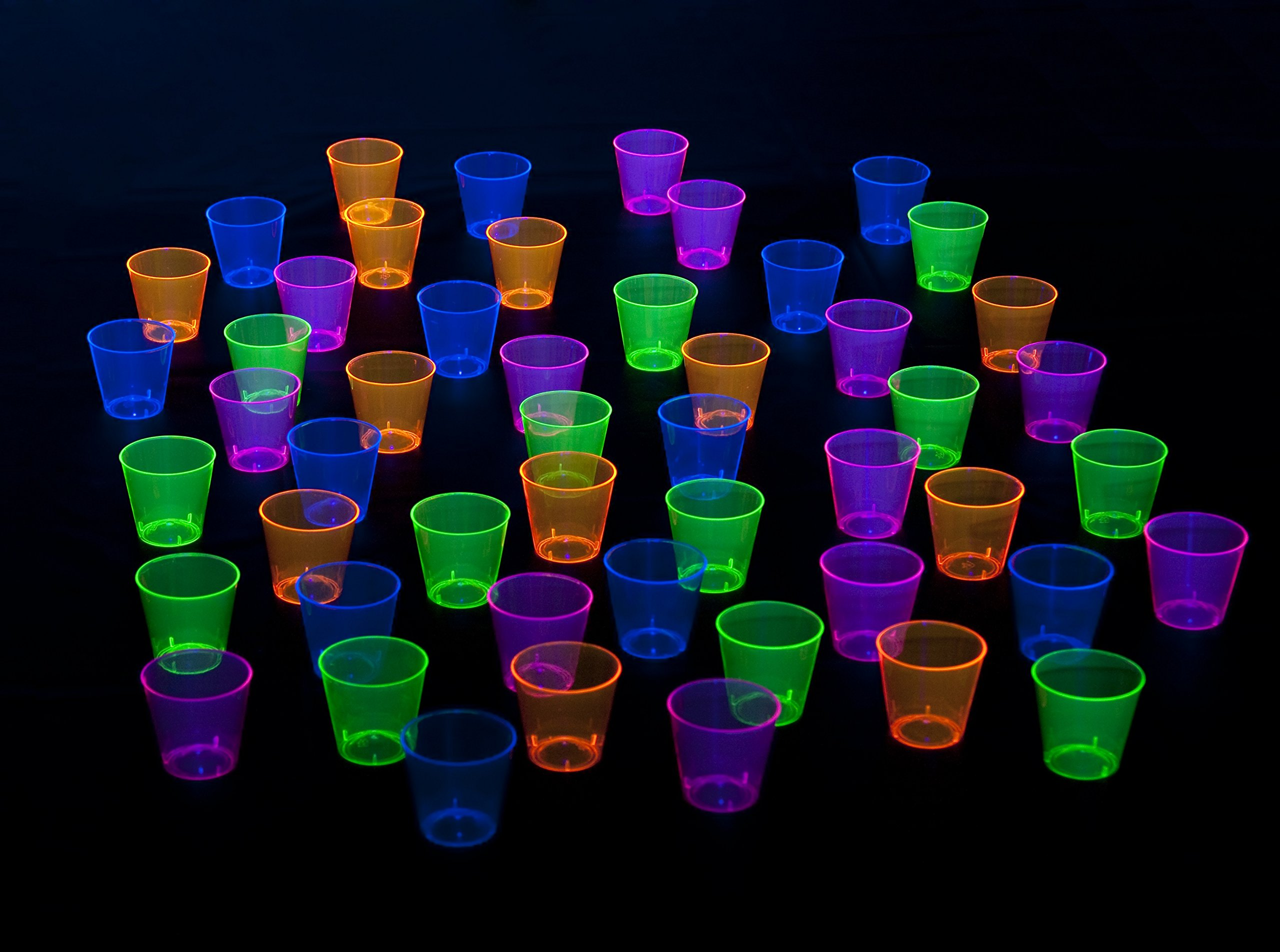 Neon Shot Glasses