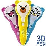3D Printer for Kids - 3D Printing Doodler Pen Set - 3-D Drawing Doodle Start Kit - 3D Pens Printers for Kids Girls Boys Adults - 3-Doodler Starter Kits - Cute 3D Pen DIY - PCL Filament 1.75mm (Yellow)