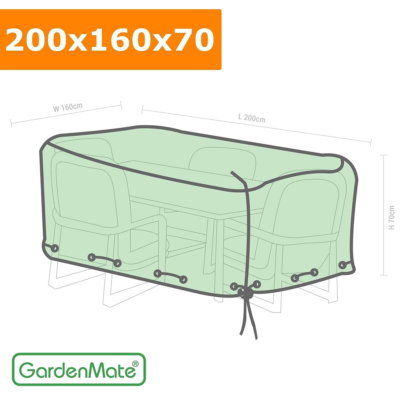 GardenMate® Schutzhülle für Gartenmöbel – 200x160x70cm – Premiumqualität aus 120gsm PE Gewebe (200x160x70cm) online bestellen