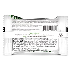 Primal Kitchen Mint Chip Protein Bar, Keto Certified, 8G of Protein (Tamaño: 12 Bars)