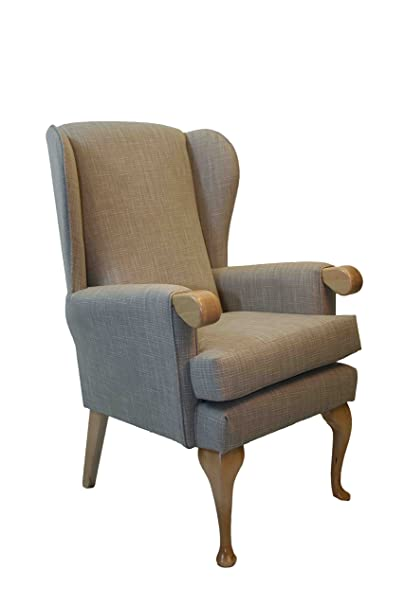 "NEW - Extra Wide Canterbury Orthopedic High Seat Chair 21"",19"" or 17"" Seat Height. Seat width 21"". Upholstered in Impervious Linen coloured Fabric (21"" Seat Height)"