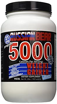 Russian Bear 5000 Gainer Vanil - 4 Pound Powder