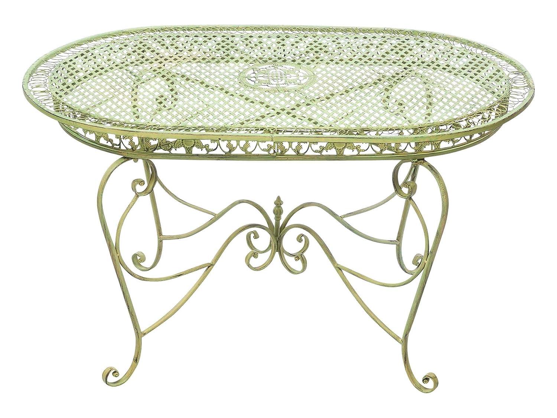 Gartentisch 135cm Eisen Tisch Schmiedeeisen Gartenmöbel grün antik Stil online bestellen