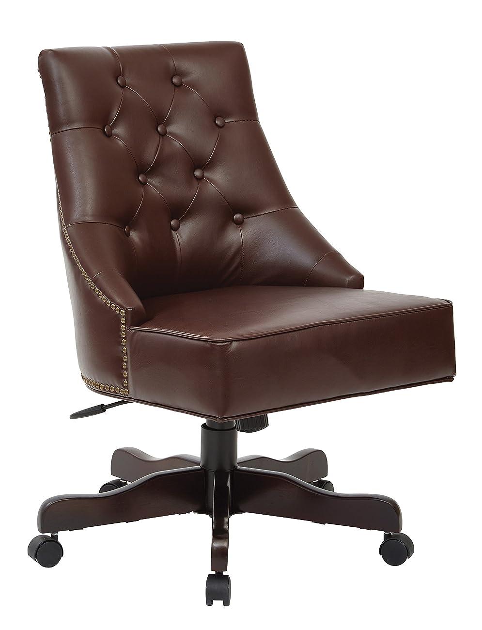 OFFICE STAR BP-REBEX-BD24 Rebecca Office Chair, Cocoa 0
