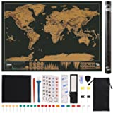 Scratch Off World Map Poster 15PCS, 32.5