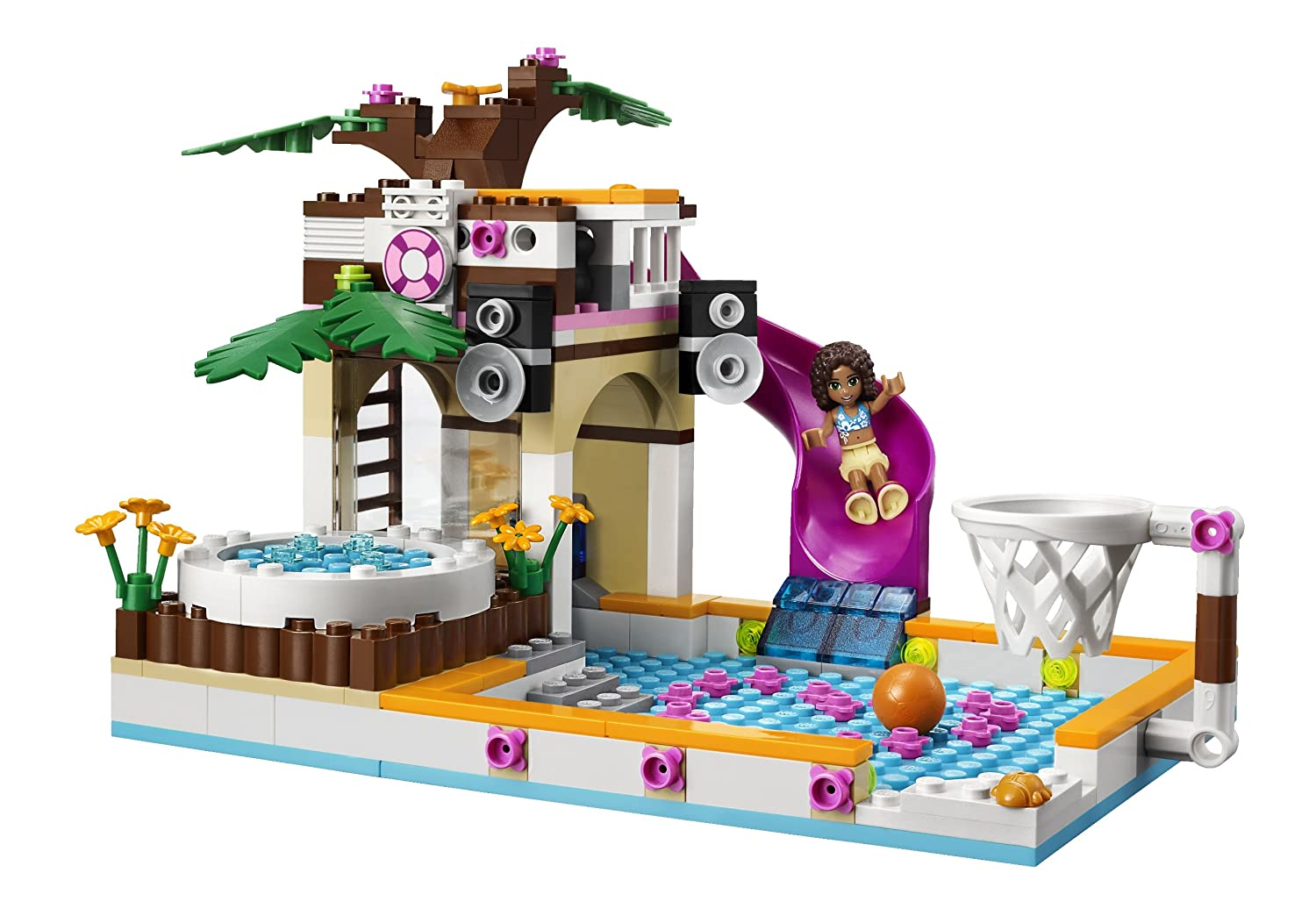 lego friends heart lake city pool target