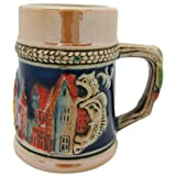 Germany Village Ceramic Beer Stein Shot Glass-2.5