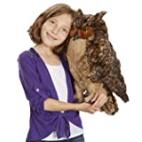 Melissa & Doug Giant Owl - Lifelike Stuffed Animal (17 inches tall)