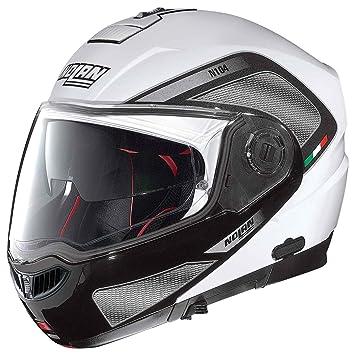 Nolan n 104 aBSOLUTE tECH n-cOM casque flip-up couleur :  blanc-noir-taille 3XL