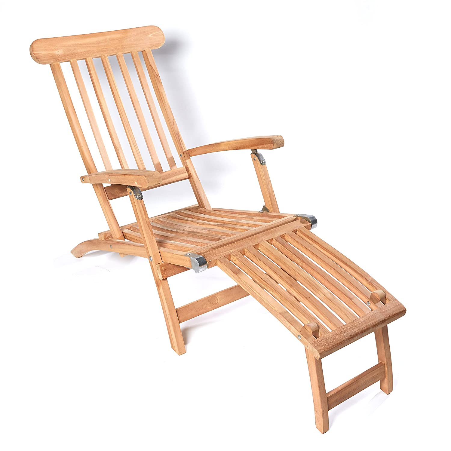 deckchair teak deckstuhl sonnenliege gartenliege liegestuhl liege gartenm bel online kaufen. Black Bedroom Furniture Sets. Home Design Ideas