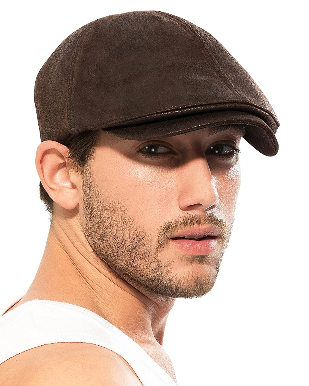 ililily Flat Cap Vintage Cabbie Hat Gatsby Ivy Cap Irish Hunting Newsboy Stretch 1
