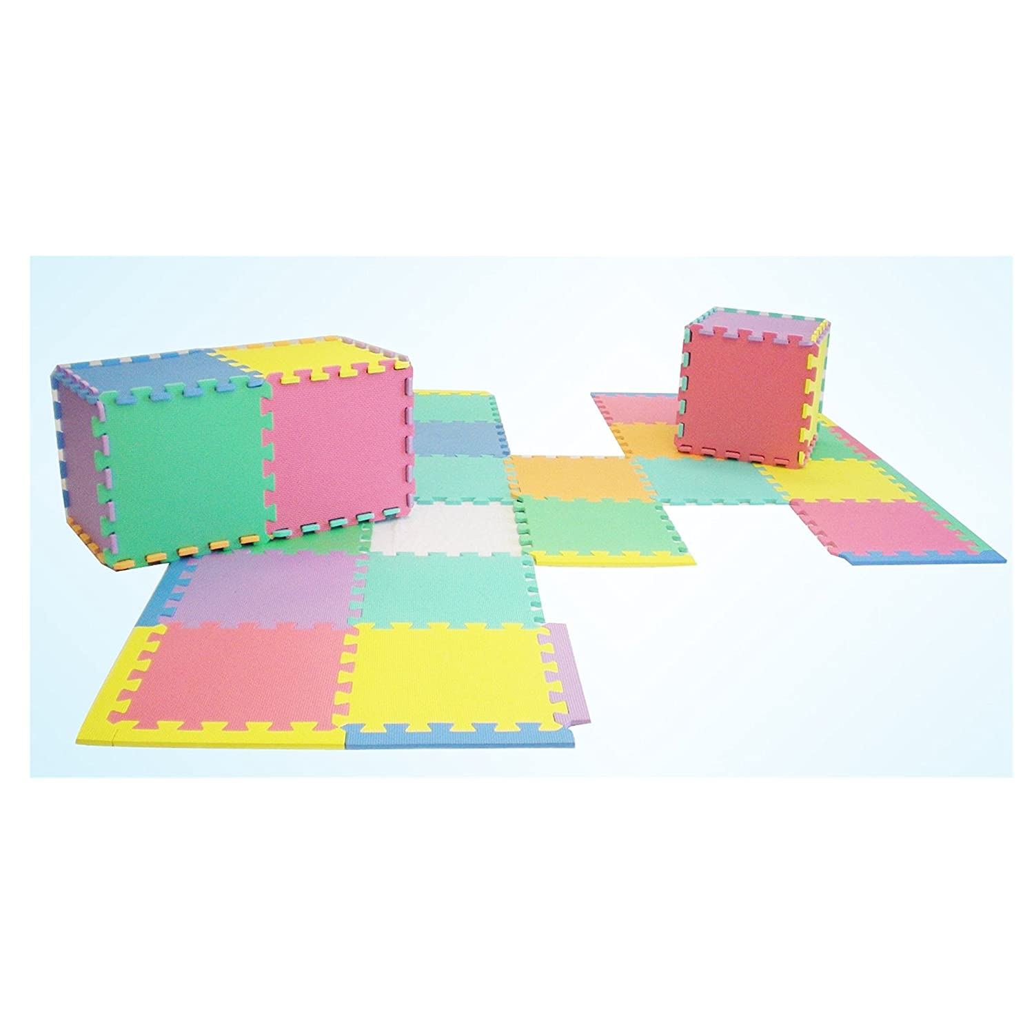 Amazon.com : MEDca Floor Play Mat EVA Interlocking 10pk 11.5x11.5 Inches Assorted Soft Colors