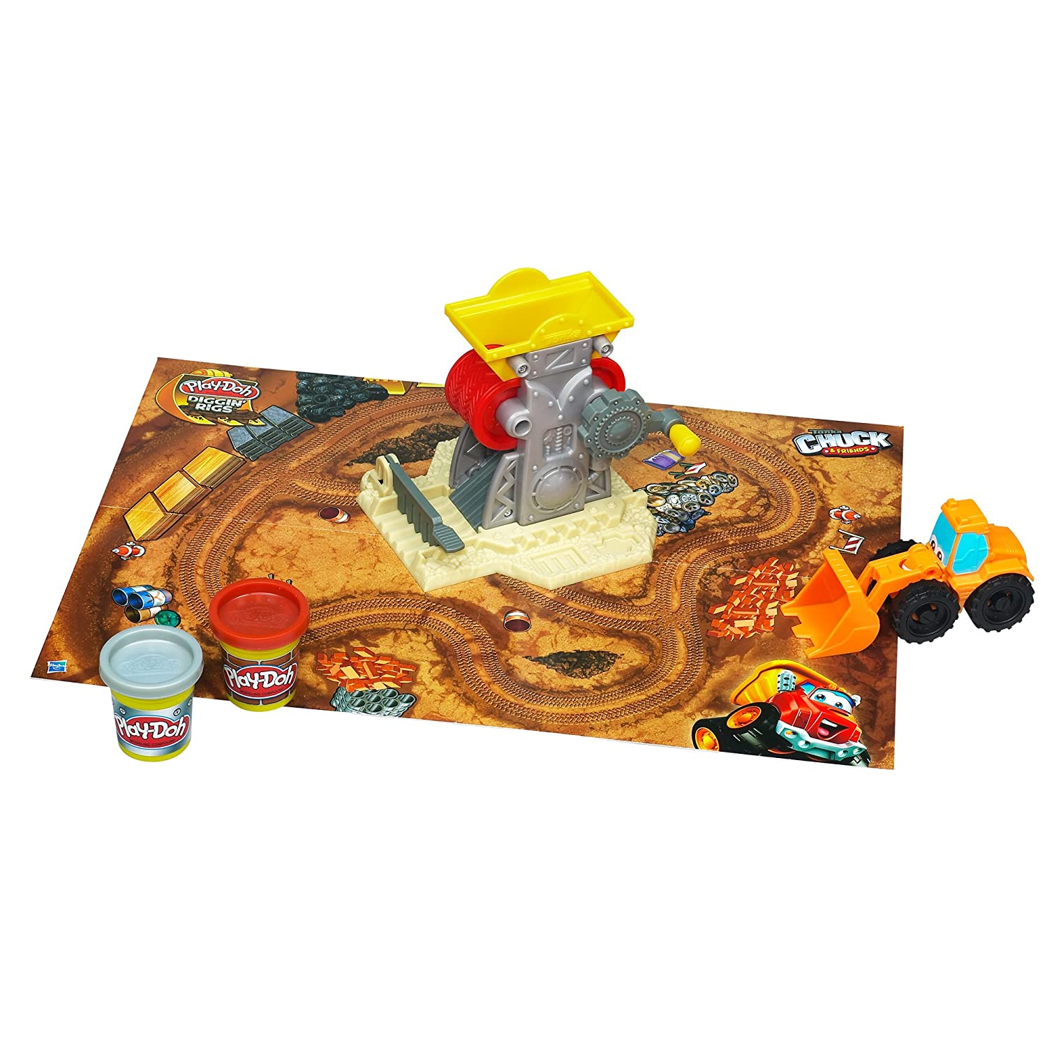 Play-Doh Diggin' Rigs Tonka Chuck 'N Friends Brick Mill Set by Play-Doh TOY (English Manual)