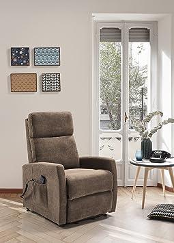 Sessel Relax Elektrische, Automatik, Stoff braun, Typ Help