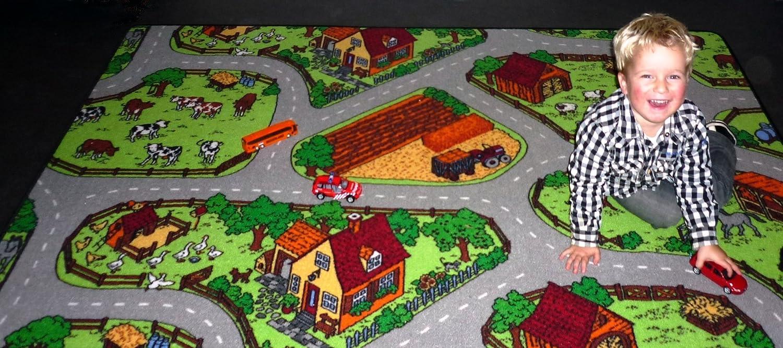 Spielteppich Kinderteppich Bauernhof 0,95m x 2,00m online bestellen