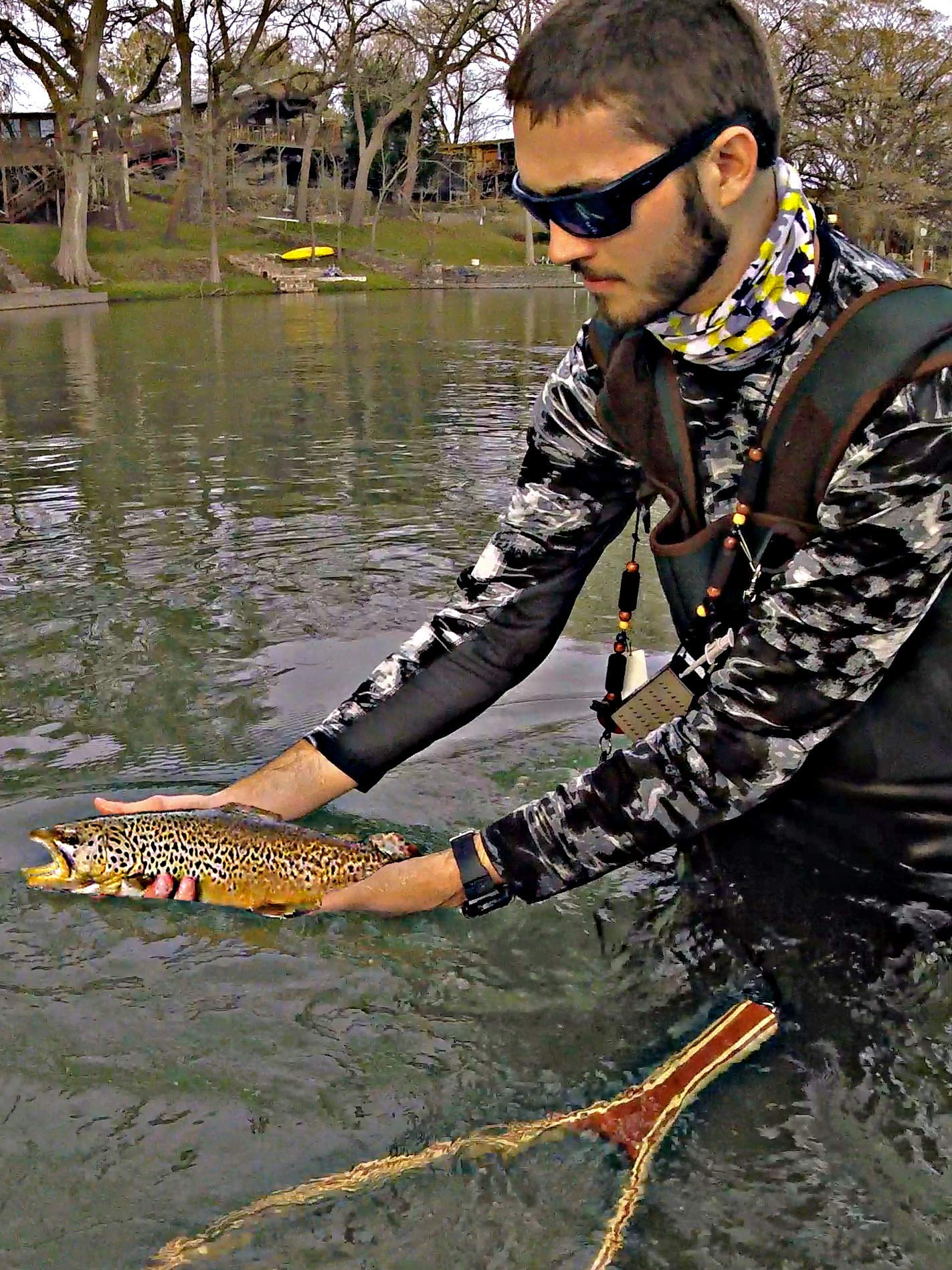 Clip: Fishing the Guadalupe River for My First Texas Brown Trout