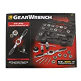 GEARWRENCH 40 Pc. Metric Ratcheting Tap and Die Set - 3886 (Color: Silver)