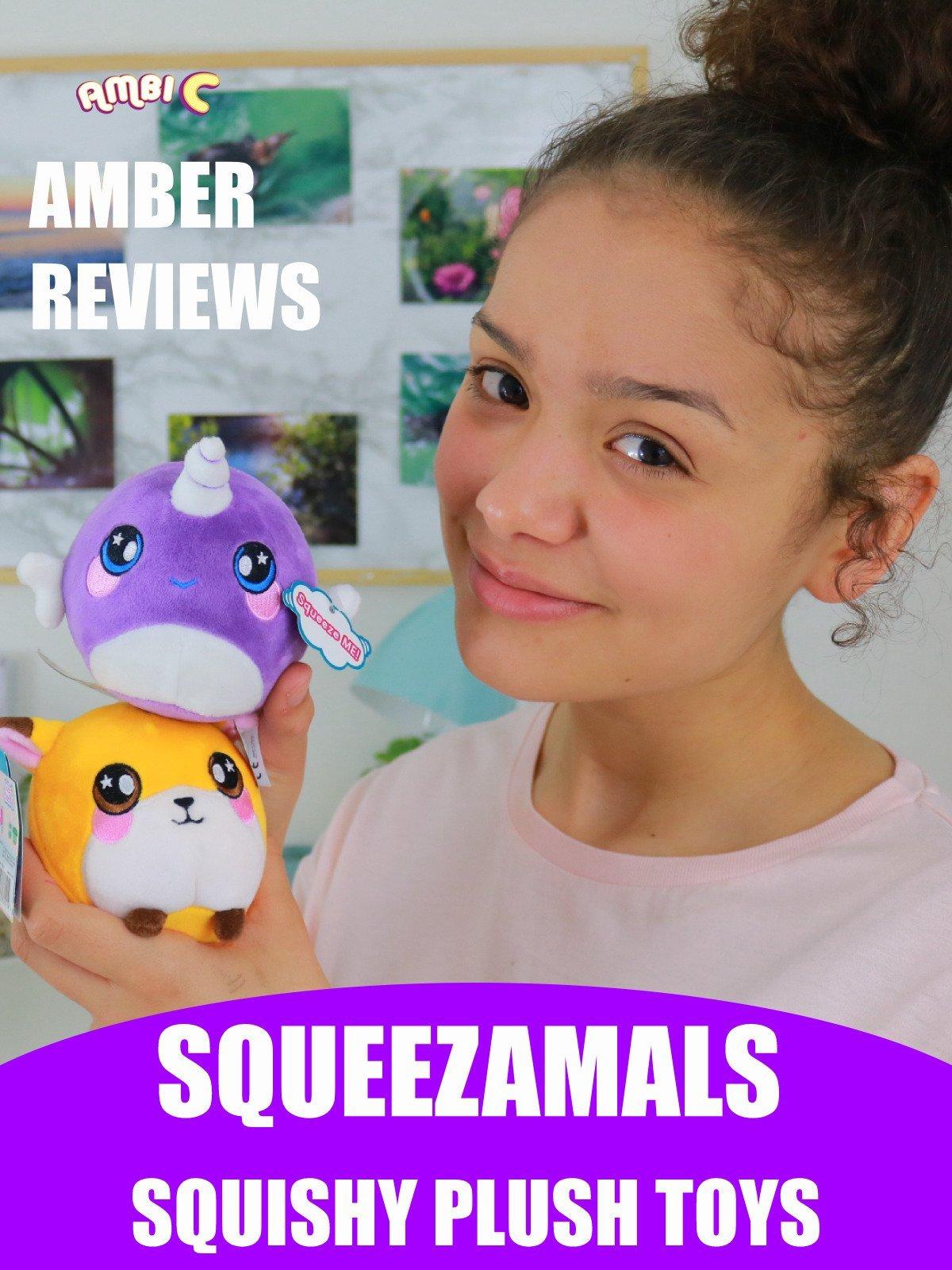 Amber Reviews Squeezamals Squishy Plush Toys