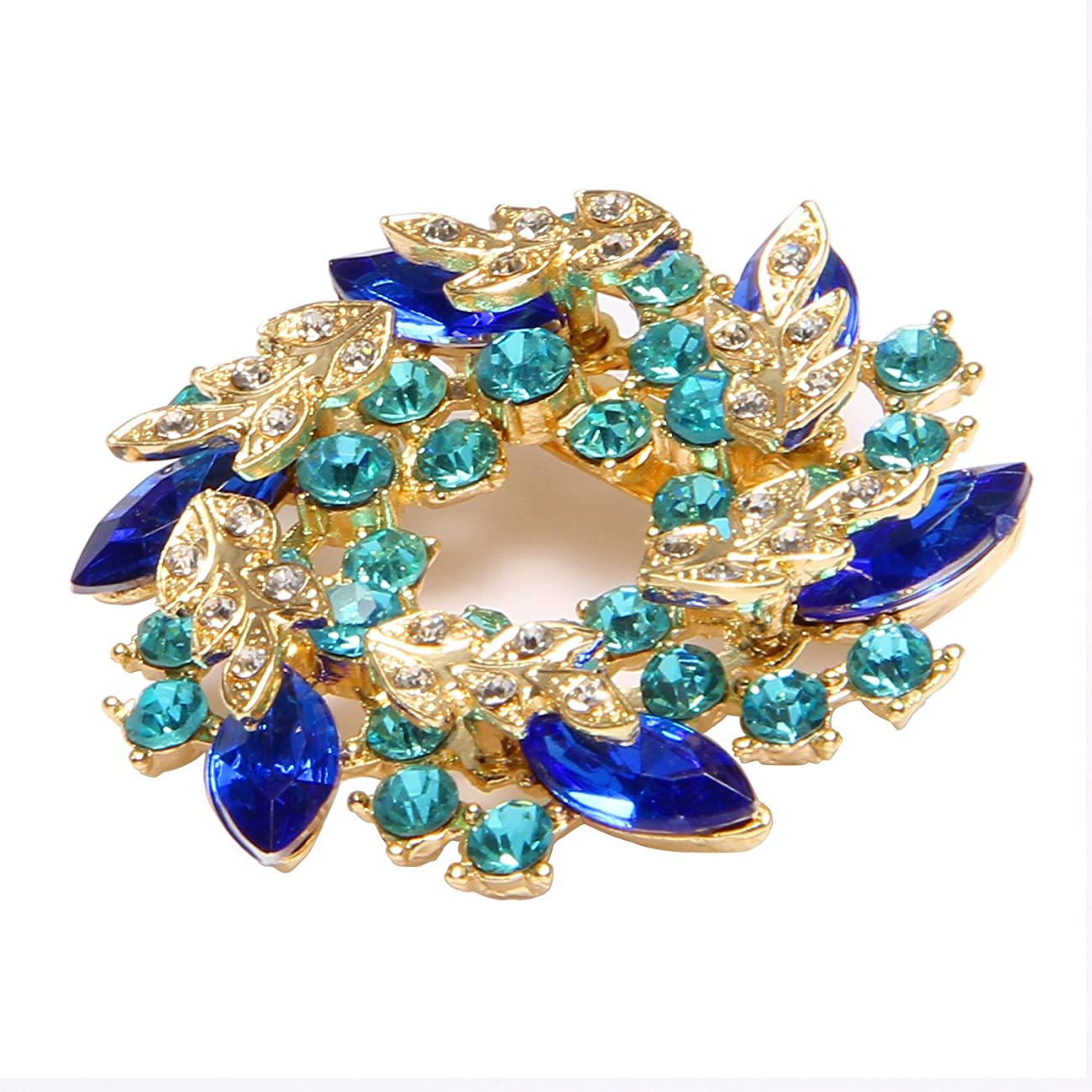 Valdler Women 's Brooch Pin With Fashion Jewelry Fancy Vintage Rhinestone Bling Crystal Bauhinia Flower 1