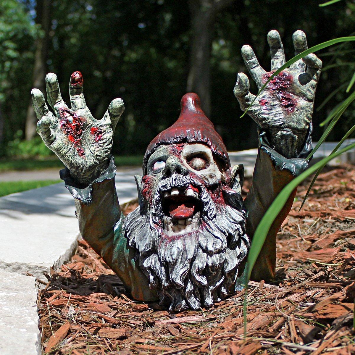 Zombie Gnome - Zombie Gnombie Statue - Garden Gnome Statue