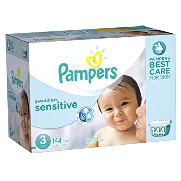 Pampers Swaddlers Sensitive Diapers Size-3 Economy Pack Plus, 144-Count: Amazon.ca: Baby