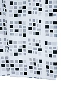 Aquamod 140320 Stones - Cortina de ducha de tela (180 x 200 cm), color negro y gris   más noticias y comentarios