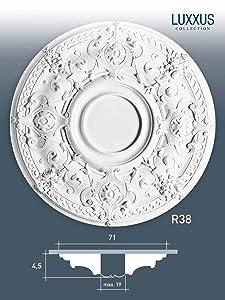 Orac Decor Decken Rosette LUXXUS R38 Stuckrosette Zierelemente   Kritiken und weitere Informationen