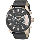 Diesel Men's DZ4347 Stronghold Analog Display Analog Quartz Black Watch (Color: Black/Copper, Tamaño: One Size)