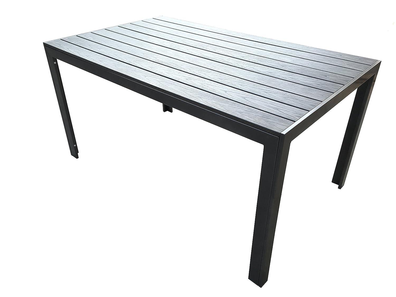 "Alu-Gartentisch ""Fire XL"" 150×90 Aluminium absolut wetterfest, anthrazit aus dem Hause RRR online kaufen"