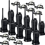 RETEVIS RT21 RADIO DE DOS VÍAS UHF RECARGABLE 400-480MHz 16 CH VOX Scrambler Silenciador de seguridad Walkie Talkies (10 Pack) y 2 Pin Covert Air Acoustic Auricular (10 Pack)