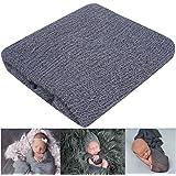 Newborn Photography Props Newborn Baby Stretch Long Ripple Wrap Yarn Cloth Blanket by Bassion,Dark Gray,One Size