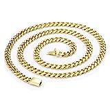 IcedTime 14K White Gold Octagonal Snake Chain 18 inch long x0.7mm wide