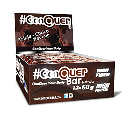 ConQuer Bar Triple Choco, 1er Pack (1 x 12 Riegel)