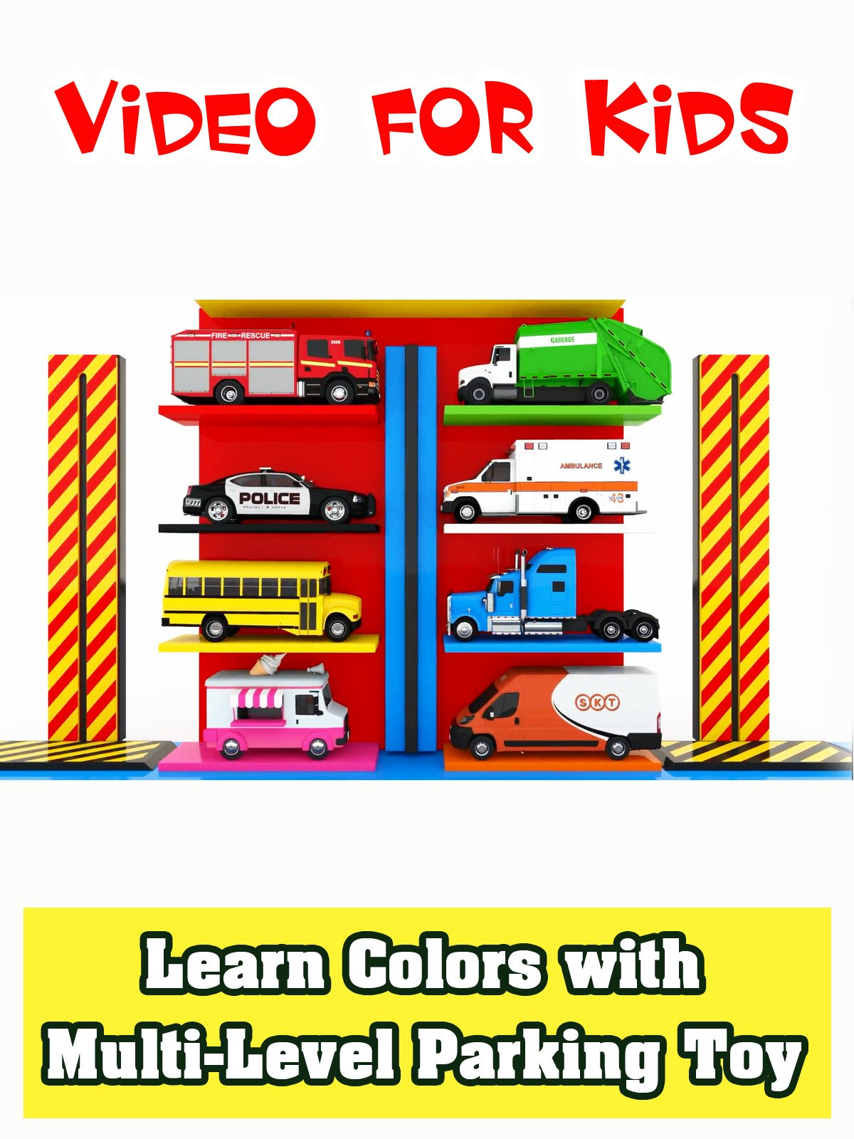 Learn Colors with Multi-Level Parking Toy