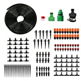 HiFunSky Drip Irrigation,Garden Irrigation System,DIY Plant Watering System,Distribution Tubing Hose,Saving Water Kit Accessories,Automatic Irrigation Equipment Set for Garden Greenhouse,Patio,Lawn, (Color: Black, Tamaño: 3)