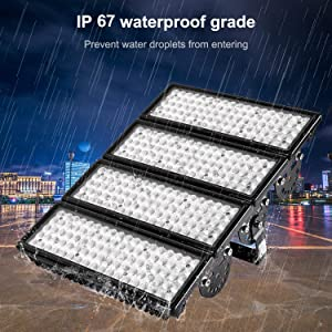 Viugreum 10 Pack 400W LED Flood Lights Outdoor, 40000 Lumen, 2000W Equivalent Daylight White 6000K 60° Beam Angle LED Spot Light, IP67 Waterproof Security Work Light, Stadium Lights (Ship from USA) (Color: 10 Pack 400W Daylight White)