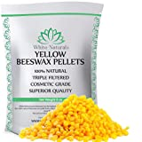 Beeswax Pellets 8 oz, Yellow, Pure, Natural, Cosmetic Grade, Bees Wax Pastilles, Triple Filtered, Great For DIY Projects, Lip Balms, Lotions, Candles By White Naturals (Tamaño: 8 Ounce)