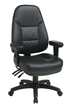 Office Star WorkSmart Professional Dual Function Ergonomic High Back Eco Leather Chair