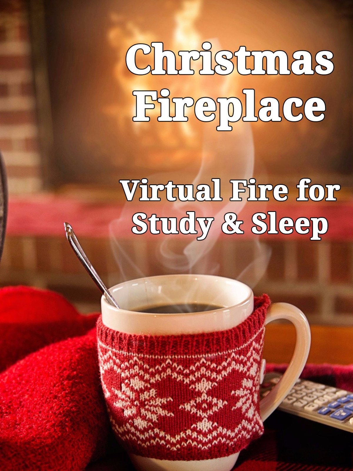 Christmas Fireplace Virtual Fire for Study and Sleep