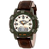 Timex Men's T49969 Expedition Analog and Digital Display Resin Watch with Leather Strap