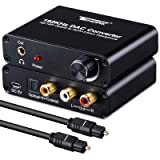 Audio Decoder - Tendak Digital to Analog DAC Converter with Optical SPDIF Toslink Coaxial to L/R 3.5mm Stereo Audio Adapter and Volume Control Optical Cable Support Dolby AC3 for Xbox HDTV PS4 Roku4 (Color: 192KHZ DAC Conveter)