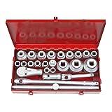 TEKTON 1118 3/4-Inch and 1-Inch Drive Jumbo Socket Set, Inch, 26-Piece