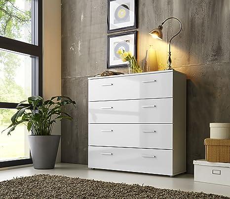 """cassettiera credenza """"MARBELLA"""" bianco lucido - made in germany  altezza 91 centimetri , larghezza di 88 centimetri , profondità 32 centimetri"""