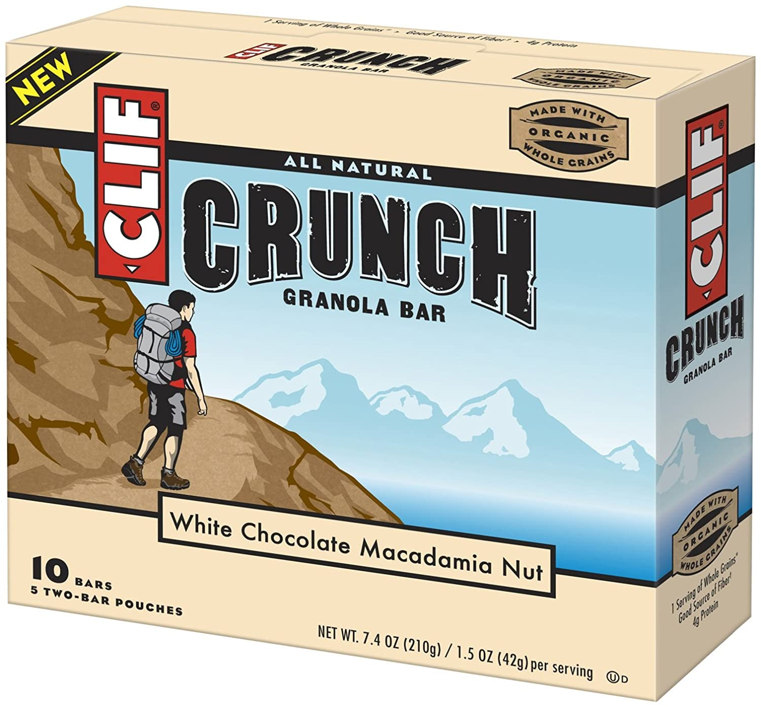 Amazon - Clif Crunch Granola Bar, White Chocolate Macadamia - $3.03