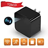 1080P WiFi Spy Camera, Hidden Camera, Mini Camera, Nanny Camera, USB Charger Camera with Motion Detection, Loop Recording for Home and Office Security Surveillance (Color: Black.)