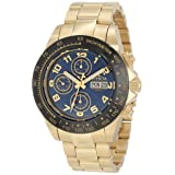 Invicta Men's 10937 Speedway Automatic Chronograph Blue Dial 18K Gold IP Stainless Steel Watch (Color: Blue)