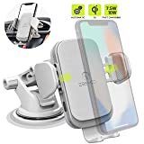 ZeeHoo Wireless Car Charger Mount with USB-C, 10W 7.5W Auto-Clamp Fast Wireless Charger Air Vent Phone Holder Compatible iPhone 11,11 Pro,11 Pro Max,XS Max,XS,XR,X, Galaxy S10 S9 S8,Note 10 Note 9 (Color: White)